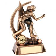 Bronze/Gold Female - Ladies Lawn Bowls Geo Figure Trophy 5.75in