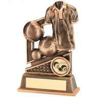 Bronze/Gold Lawn Bowls Diamond Series Trophy 4.75in