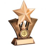 Bronze/Gold Generic Star Resin Trophy 7.5in