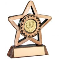 Bronze/Gold Resin Generic Mini Star Trophy 3.75in