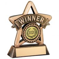 Bronze/Gold Resin Winner Mini Star Trophy 4.25in