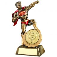 Bronze/Gold/Red Resin Generic Hero Trophy 7.25in