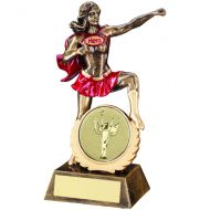Bronze/Gold/Red Generic Female - Ladies Hero Trophy 7.5in