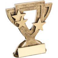 Bronze/Gold Generic Mini Cup Trophy - 3.75in