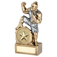 Bronze Pewter Generic Beasts Figure Trophy Award 2in Centre 7in : New 2020