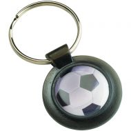 Round Keyring Black 1.5in