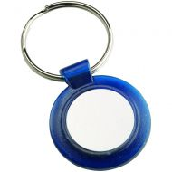 Round Keyring Blue 1.5in