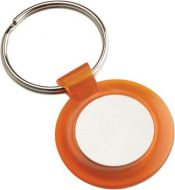 Round Keyring Orange 1.5in
