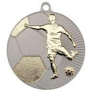 Football Two Colour Medal - Matt Silver/Gold 2.75in