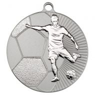 Football Two Colour Medal - Matt Silver/Silver 2.75in