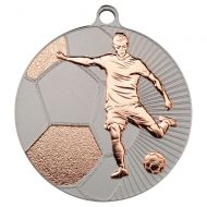 Football Two Colour Medal - Matt Silver/Bronze 2.75in