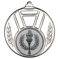 Ribbon Leaf Medal - Silver 2in