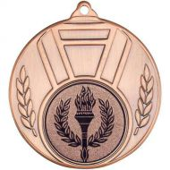 Ribbon Leaf Medal - Bronze 2in
