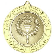 Wreath Medal 2.75in Gold