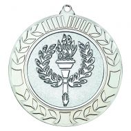 Wreath Medal 2.75in Silver