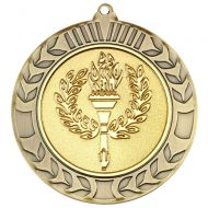 Wreath Medal 2.75in Antique Gold