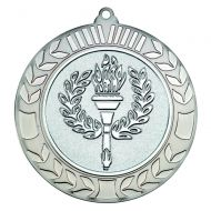 Wreath Medal 2.75in Antique Silver