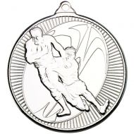 Rugby Multi Line Medal Silver 2in