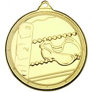 Swimming Multi Line Medal Gold 2in