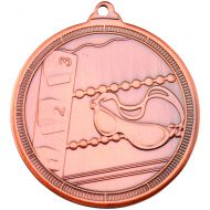 Swimming Multi Line Medal Bronze 2in