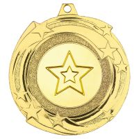 Star Cyclone Medal Gold 2in : New 2019