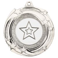 Star Cyclone Medal Silver 2in : New 2019