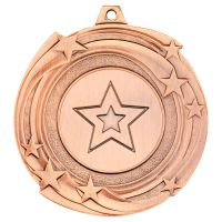 Star Cyclone Medal Bronze 2in : New 2019