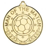 Football Man Of The Match Medal - 2in : New 2018
