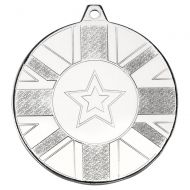 Union Flag Medal Silver 2in : New 2020