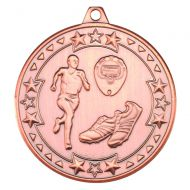 Running Tri Star Medal Bronze 2in