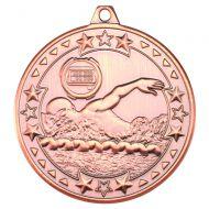 Swimming Tri Star Medal Bronze 2in