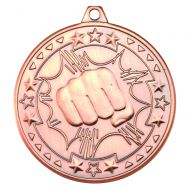 Martial Arts Tri Star Medal Bronze 2in