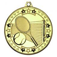 Tennis Tri Star Medal Gold 2in