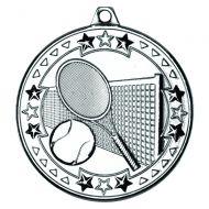Tennis Tri Star Medal Silver 2in
