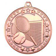 Tennis Tri Star Medal Bronze 2in