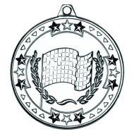 Motor Sport Tri Star Medal Silver 2in