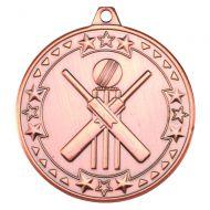 Cricket Tri Star Medal Bronze 2in