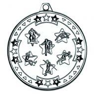 Multi Athletics Tri Star Medal Silver 2in