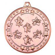 Multi Athletics Tri Star Medal Bronze 2in