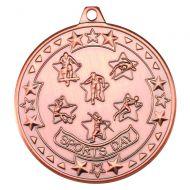 Sports Day Tri Star Medal Bronze 2in