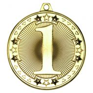 Tri Star Medal 1st Gold 2in