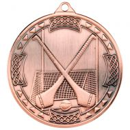 Hurling Celtic Medal Bronze 2in
