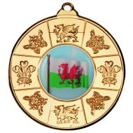 Wales Medal Gold 2in