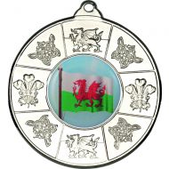 Wales Medal Silver 2in