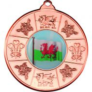 Wales Medal Bronze 2in