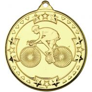 Cycling Tri Star Medal Gold 2in