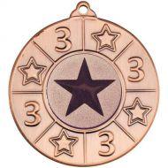 4 Star Medal - 3rd Bronze 2in