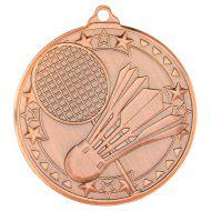 Badminton Tri Star Medal Bronze 2in : New 2019