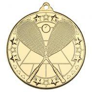 Squash Tri Star Medal Gold 2in : New 2019