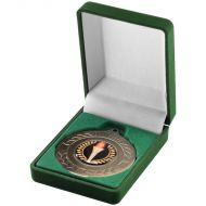 Deluxe Green Medal Box (40/50mm Recess) 3in